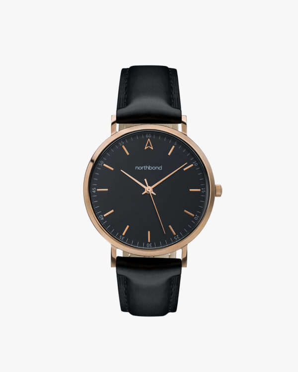 noir watch black rose gold tone 36 mm