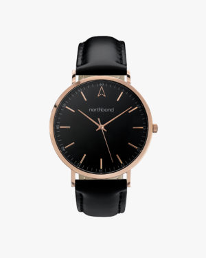 onyx watch black rose gold 40mm