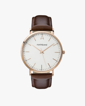 sail watch brown rose gold 40mm