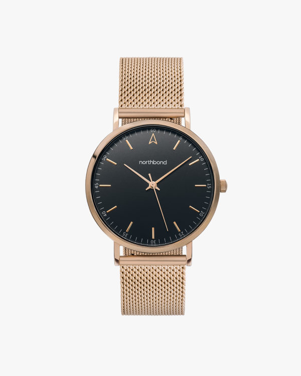 jet watch mesh rose gold 36mm