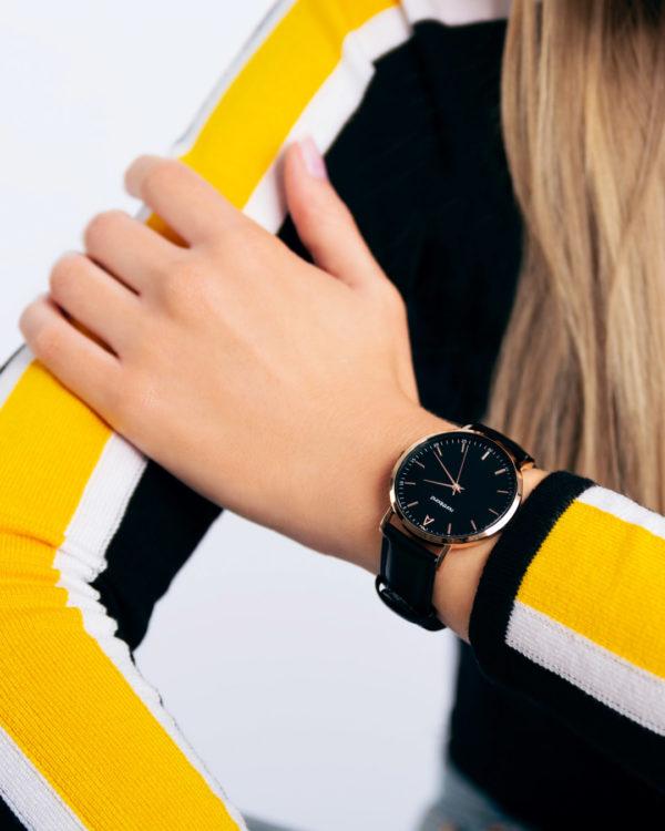 noir watch - fashion model